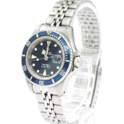 Tudor Blue Stainless Steel Prince Oyster Date 96090 Women's Wristwatch 27MM