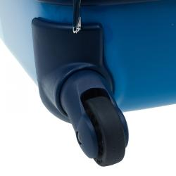 """Tumi Blue Plastic """"Are We There Yet?"""" Continental Carry On Trolley"""