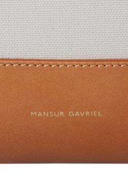 Mansur Gavriel Cream/Tan Canvas and Leather Tote