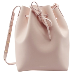 Mansur Gavriel Pink Leather Bucket Bag