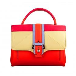Paula Cademartori Multicolor Leather Petite Faye Top Handle Bag