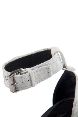 Alexander McQueen Two Tone Salmon Leather Lara Biker Buckle Ankle Strap Sandals Size 38