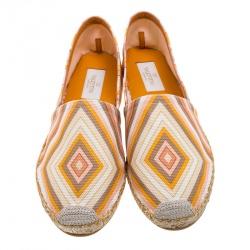 Valentino Multicolor Canvas Native Couture 1975 Print Espadrilles Size 37