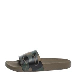 Valentino Camo Rubber Slide Sandals Size 41