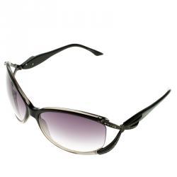Valentino Grey 5628/S Crystal Embellished Round Sunglasses
