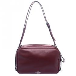 Valentino Burgundy Leather Bag