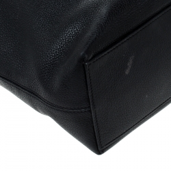 Valentino Black Leather Rockstud Shopper Tote