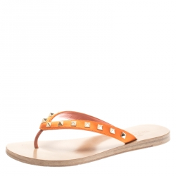 343c2325f Buy Giuseppe Zanotti Red Rubber Chain Detail Flip Flops Size 39 ...