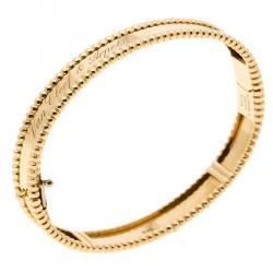 Van Cleef & Arpels Perlée Signature 18k Yellow Gold Bracelet S