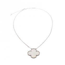 Van Cleef & Arpels Magic Alhambra Mother of Pearl 18k White Gold Necklace