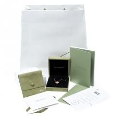 Van Cleef & Arpels Vintage Alhambra Diamond 18K Rose Gold Pendant Necklace