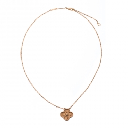 Van Cleef & Arpels Vintage Alhambra 18k Rose Gold Pendant Necklace