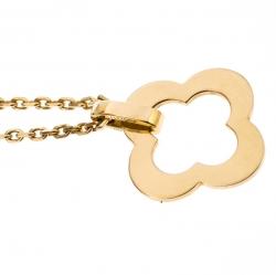 Van Cleef & Arpels Byzantine Alhambra 18K Yellow Gold Pendant Necklace