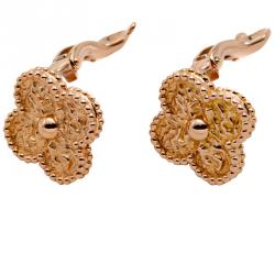 Van Cleef & Arpels Rose Gold Vintage Alhambra Earrings