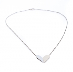 Van Cleef & Arpels Frivole Heart 18K White Gold Pendant Necklace