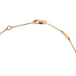 Van Cleef & Arpels Sweet Alhambra Carnelian 18K Rose Gold Mini Pendant Chain Necklace