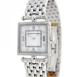 8198af8815923 Van Cleef   Arpels White 18K White Gold Diamond Women s Wristwatch 19MM