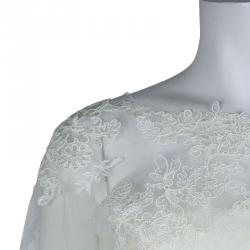 White by Vera Wang Strapless Lace Wedding Gown L