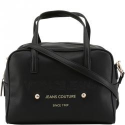 2fe59b336aa Versace Jeans Black Pebbled Leather Satchel Bag
