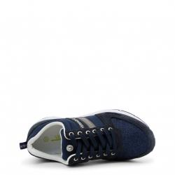 Versace Jeans Blue Fabric and Suede Platform Sneakers Size 40