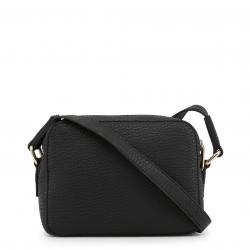 Versace Jeans Black Pebbled Faux Leather Crossbody Bag