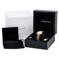 Versace Mother Of Pearl Rose Gold Plated Stainless Steel Eon 79Q-IC Women's Wristwatch 33 mm