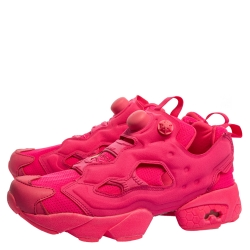 Vetements x Reebok Fluorescent Pink Nylon And Fabric Instapump Fury Sneakers Size 39