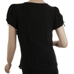 Viktor and Rolf for H&M Black Heart Smocked Top M
