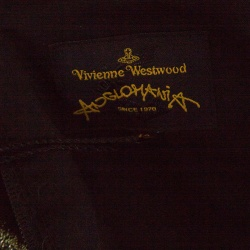 Vivienne Westwood Anglomania Dull Gold Jacquard Off Shoulder Apache Top M