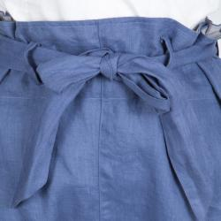 Vivienne Westwood Anglomania Linen Faux Double Layer Tie Detail Pants M