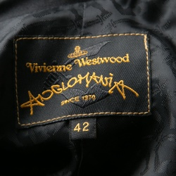 Vivienne Westwood Anglomania Black Stretch Cotton Cropped Jacket M