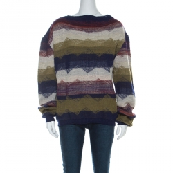 Vivienne Westwood Multicolor Striped Textured Wool Sweater L