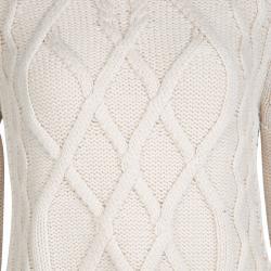 Weekend Max Mara Beige Chunky Knit Turtle Neck Eden Sweater M