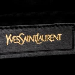 Saint Laurent Black Leather Cabas Chyc Clutch