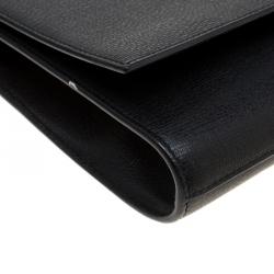 Saint Laurent Black Leather Large Chyc Clutch