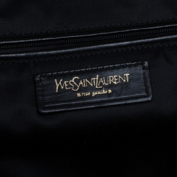 Yves Saint Laurent Black Patent Leather Downtown Tote