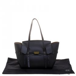 ZAC Zac Posen Black Leather Eartha Belted Satchel