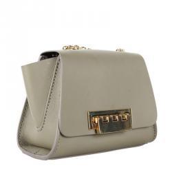 Zac Posen Gray Eartha Leather Mini Crossbody Bag