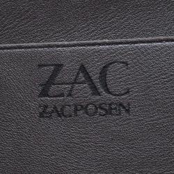 Zac Posen Grey Leather Eartha Iconic Core Top Handle Bag