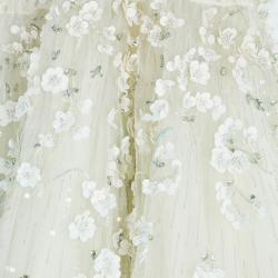 Zuhair Murad Tiana Strapless Floral Embellished Wedding Dress M
