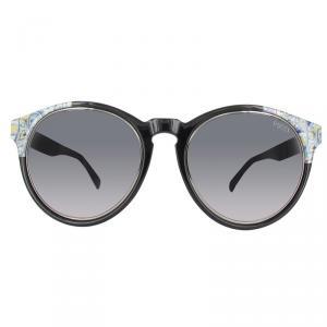 Emilio Pucci Black/Gradient Smoke EP0028 Wayfarer Sunglasses