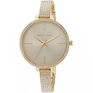 Michael Kors Antique White Yellow Gold Plated Steel Jaryn MK3784 Women's Wristwatch 36MM