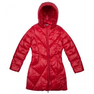 Armani Junior Red Quilted Down Jacket 14 yrs