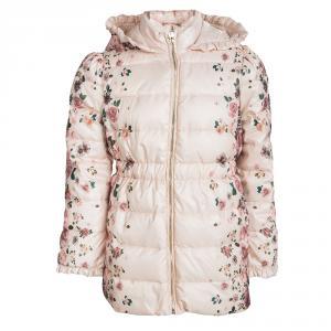 Armani Junior Pink Floral Printed Hooded Puffer Jacket 8 Yrs