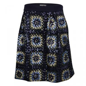 Ermanno Scervino Junior Multicolor Sequined Mini Skirt 12 Yrs
