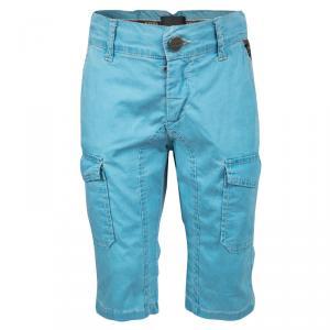 Fendi Blue Cold Pigment Overdyed Cotton Cargo Pants 4 Yrs