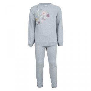 Gucci Kids Grey Floral Embroidered Tracksuit 6 Yrs