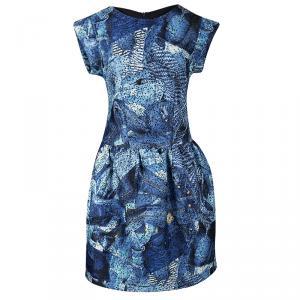 Jean Paul Gaultier Junior Indigo Printed Prunelle Dress 12 Yrs