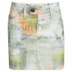 John Galliano Kids Multicolor Printed Mini Skirt 10 Yrs