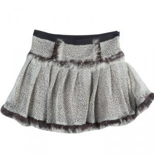 Roma e Tosca Sequin Embellished Fur Trim Skirt 8 Yrs